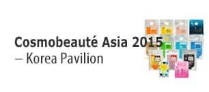 Cosmobeaute Asia 2015  Korea Pavilion