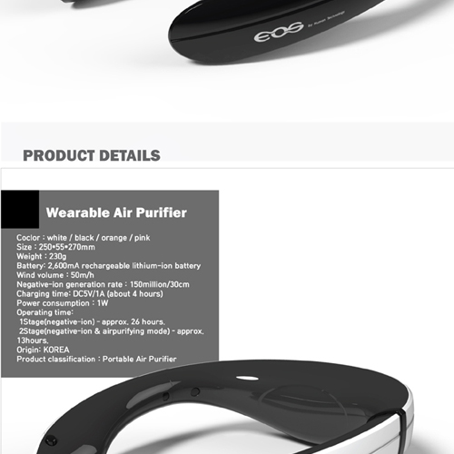 wearable air purifier