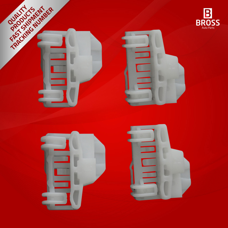 4 pieces window regulator clips front left right doors for for 1999 vw passat window regulator clips
