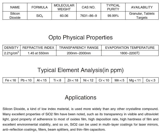 Silicon dioxide(Chemical formula: SiO2) | tradekorea