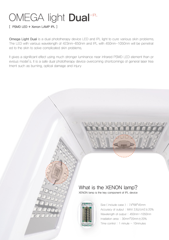 Led Ipl Function Skin Care Device Omega Light Dual From