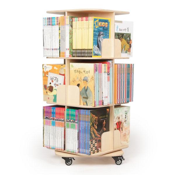 Moving Rotating Bookshelf Bookcase