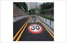 Tape for traffic lanes