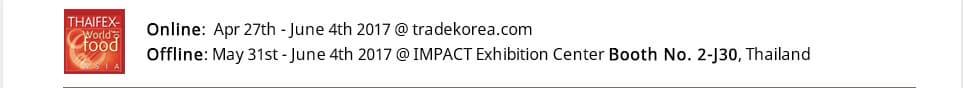 Korean Food THAIFEX World of Food Asia2017