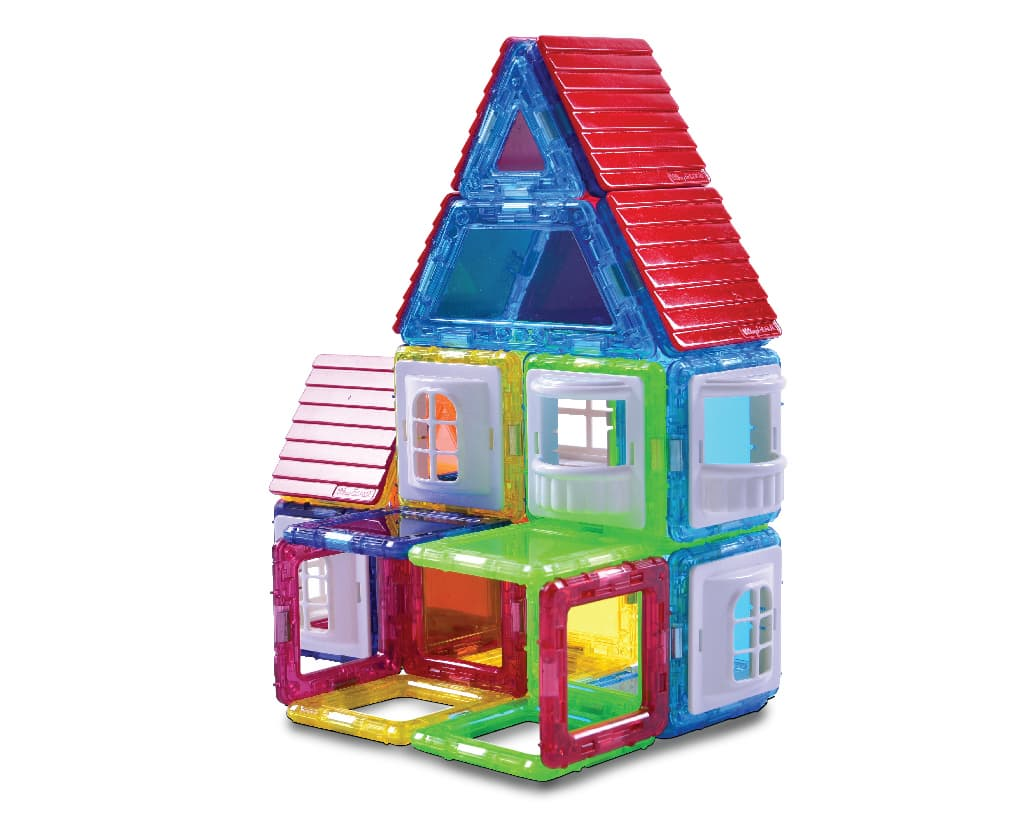 Click Block_ Magnet educational toy 2dmini Myhouse Set 76pcs