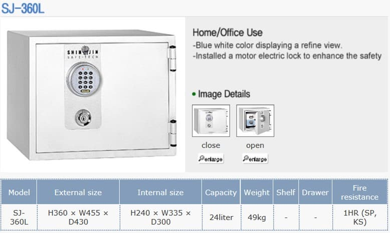 HOME SAFE, OFFICE SAFE, HOTEL SAFE, SLIDING VAULT DOOR SAFE