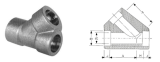 duplex stainless ASTMA182 F49 socket weld tee