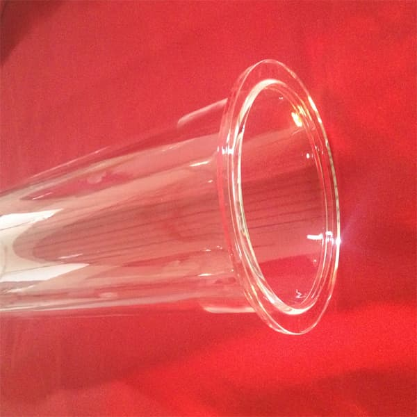 High Purity Quartz Tubes With Flange Connected Furnace Tube