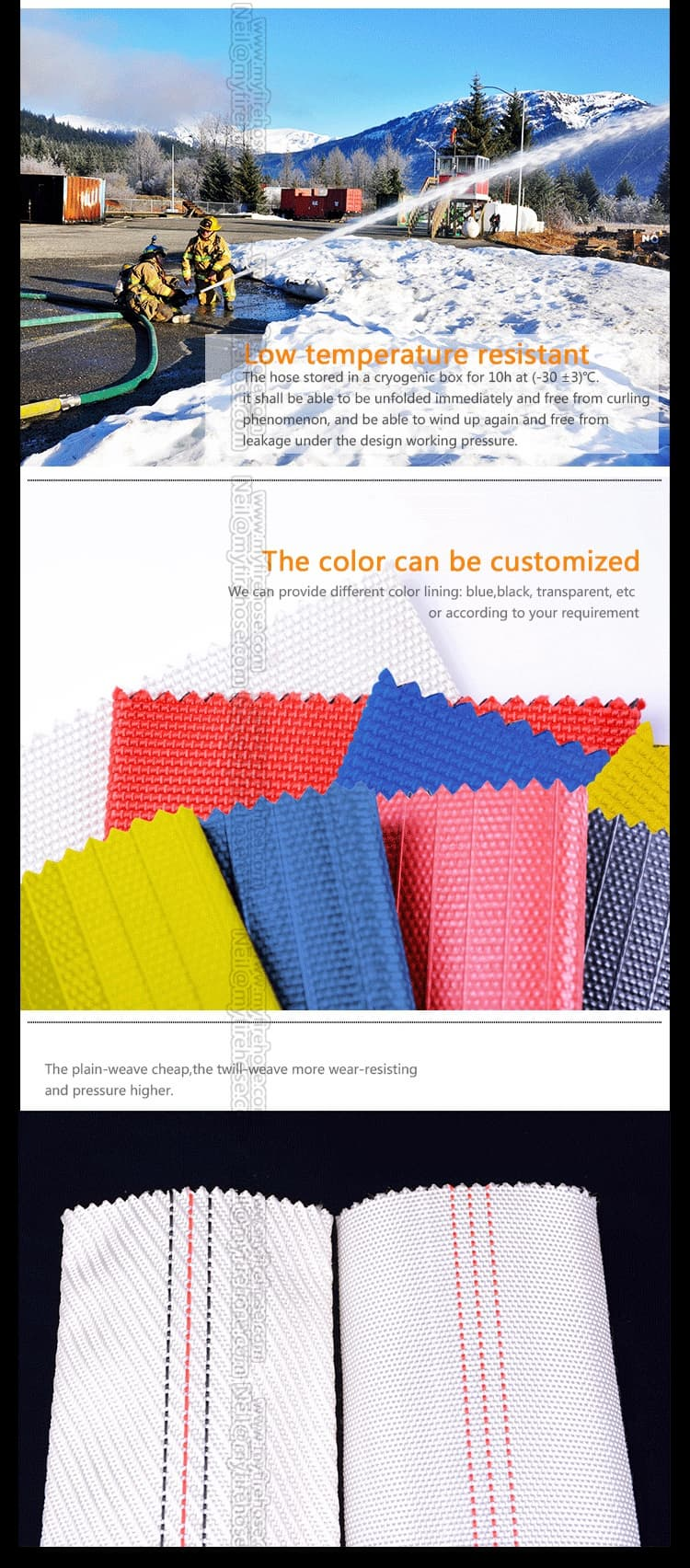 colorful fire resistant PVC hose manufacturers from china
