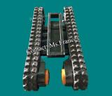 1 ton extendable rubber crawler track frame