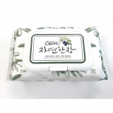 Korea Wet Tissue A piece of Nature Olive Hand Wash 72 Sheets