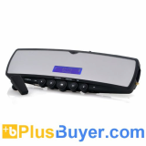 Car Rearview Mirror with Bluetooth Earpiece (TTS, Mini LCD, MP3 Player, FM)