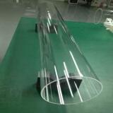Transparent Resized Quartz Glass Tubes of Large Diameter