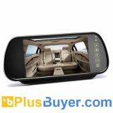 7 Inch Rearview Mirror Monitor (Touch Button Control, Dual Speakers)
