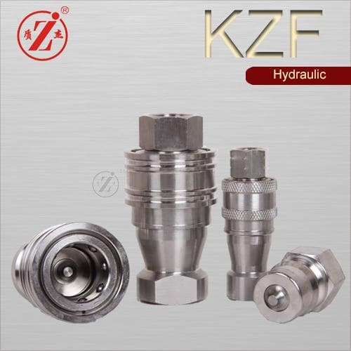 Stainless Hydraulic Quick Coupler : Kzf iso stainless steel hydraulic quick disconnect coupling