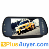 7 Inch Handsfree Bluetooth Rear View Mirror Monitor With Multimedia MP4 Player