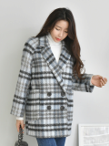 Check Coat_ Outer_ Outwear_ Winter_wear