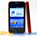 Dex - 3.5 Inch Dual SIM Android Smartphone with 1GHz CPU - Stylish Red Design
