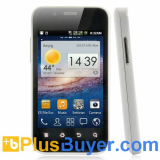 Dual SIM Android Smarphone with 3.5 Inch Display and 1GHz CPU - White