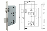 Euro Mortise Lock Case _Lock Body_ _ Roller Deadbolt