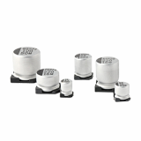 Surface mount aluminum electrolytic capacitors