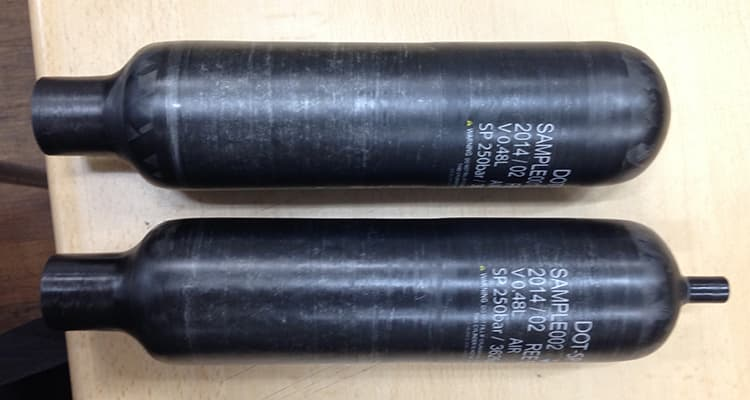High pressure composite cylinder for Airgun