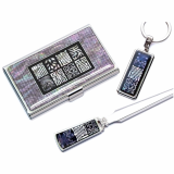 Nacre Card Case_Key Ring_Letter Opener Auspicious Characters