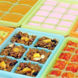 Food bricks tray with PE cover