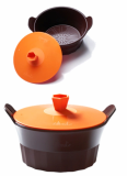 Rounded silicon steamer series_ easy cookware