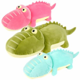 Crocodile plush toy with big eyes
