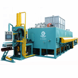aluminum billet furnace with shear