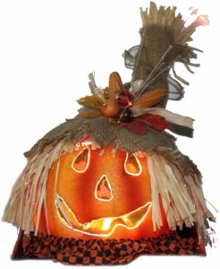 fiber optic halloween pumpkin from jingle home decor co