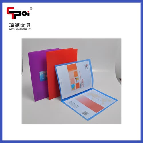 Wenzhou qi pai stationery coltd pp stationery a4 report file business card file folder reheart