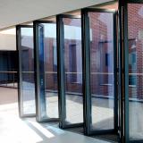 Insulated folding door