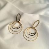 gold earrings goldstar062