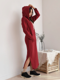 Comfortable Long Hood Dress