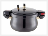 Hard Anodized Belly Shape Pressure Cooker