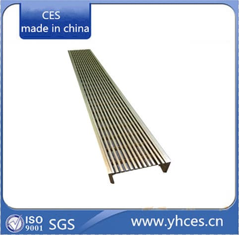 Wedge Wire Linear Floor Grates Stainless Steel Floor Grating