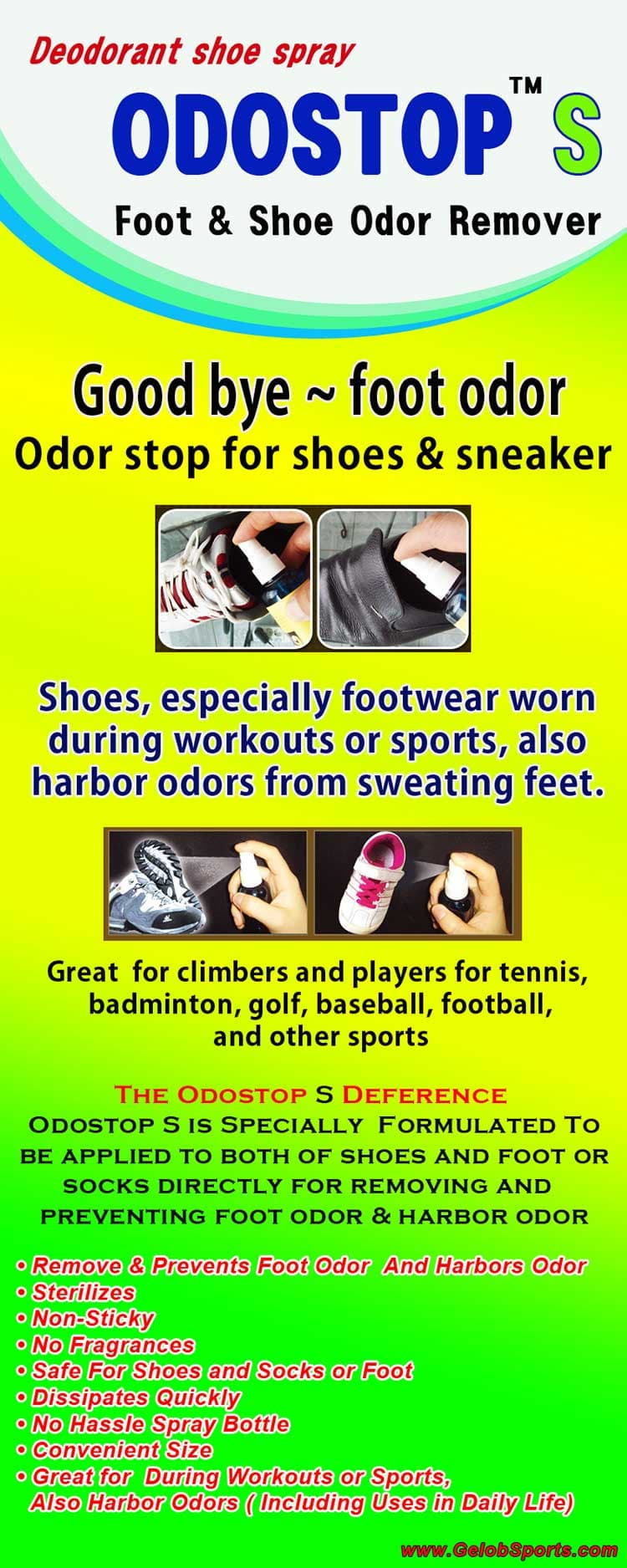 Sports Deodorants for foot odor _ODOSTOP S_