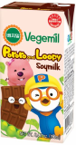 Vegemil Pororo and Loopy Choco flavor soymilk