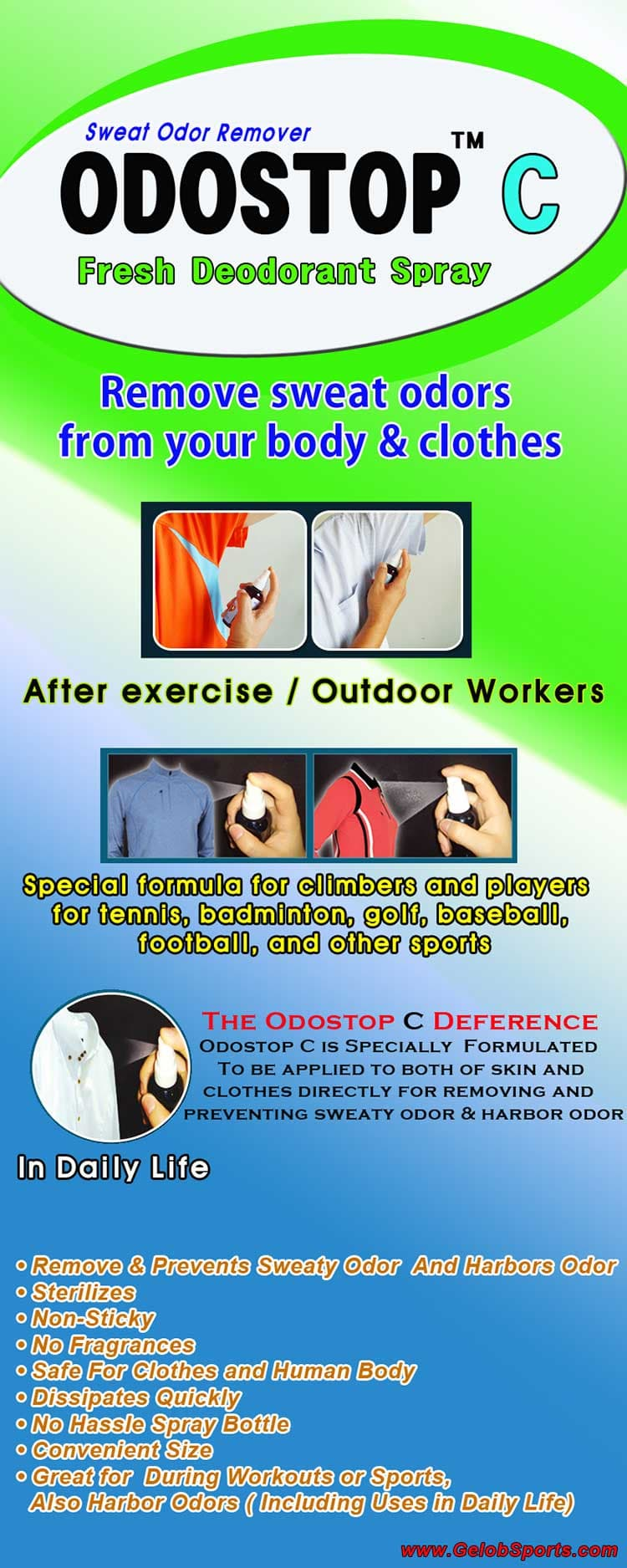 Sports Deodorants for sweat _ clothes