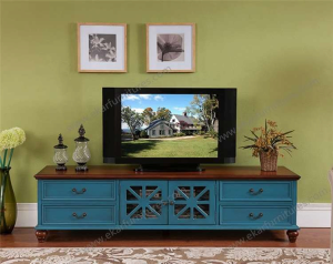 Attrayant Product Thumnail Image Product Thumnail Image Zoom. Vintage Modern Style  Wooden TV Table_ Blue TV Table ...