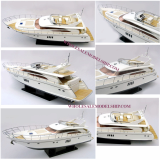 Viking 70 Sport Yacht Wooden Model