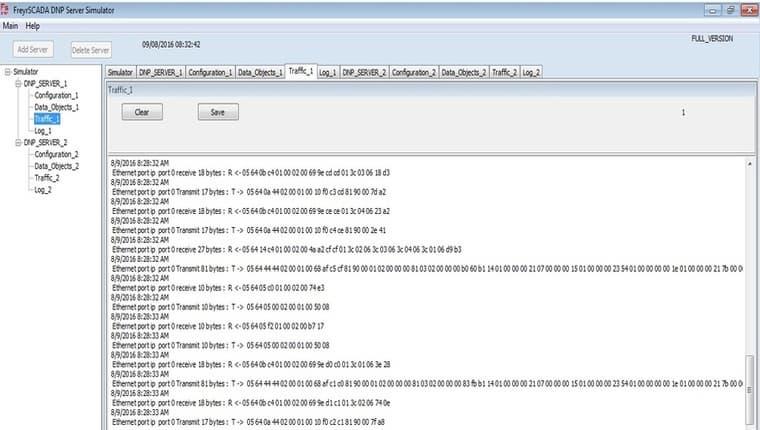 DNP3 Outstation / Server Simulator from FreyrSCADA Embedded
