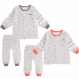 single layer long sleeves pajama set giraffe