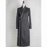 _C_ZANN_ SHANTUNG SILK LAYERED COLLAR CASHMERE COAT