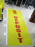 Custom fabric banner, printed poly banner