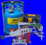 Automatic profiling cutting machine with oxy