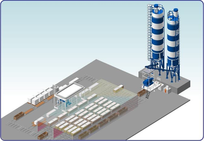 Foam concrete blocks plant from siberian constructing for Styrofoam building blocks concrete