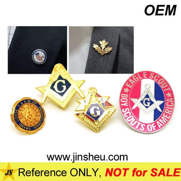 Lapel Pin Manufacturer Custom Metal Masonic Member Badge